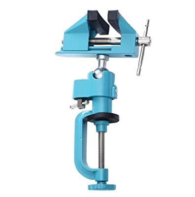 "Bench Vise Swivel 3"" Tabletop Clamp Vice Tilts Rotate 360° Universal Work"
