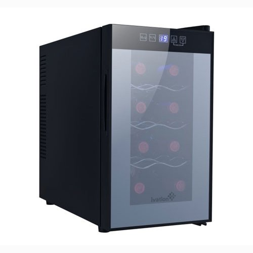 Find Discount Ivation 8 Bottle Wine Cooler with Digital Temperature Display, Thermoelectric Counter ...