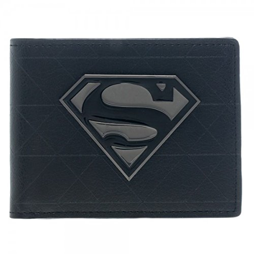 Superman Black Metal Bi Fold Wallet product image
