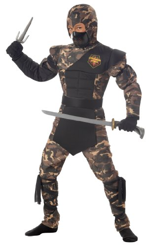 California Costumes Toys Special Ops Ninja, Large Plus (Camouflage Special Ops Ninja Child Costume)