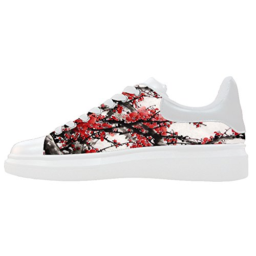 Custom Women's Shoes Chinese Oil Painting New Sneaker Canvas Thick Bottom