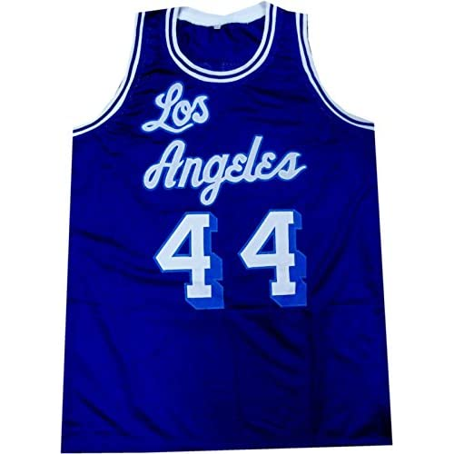 71f7da6a6 Jerry West Hand Signed Autographed Los Angeles Lakers Jersey HOF Blue  44  JSA