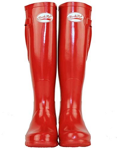 Rockfish Wellies Gloss Red Samba Original Tall w6qxY0
