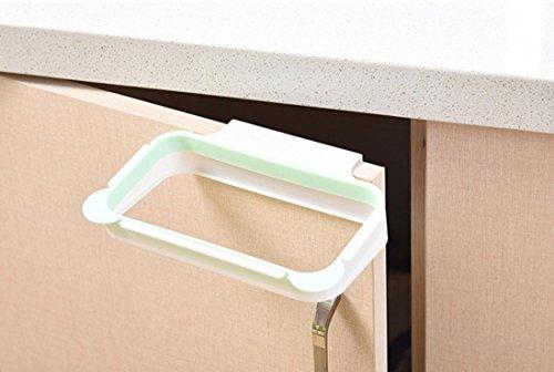 Ninasill ღ ღ Garbage Bag Holder Plastic Bracket Stand Rack Kitchen Trash Storage Hanger Bags (Green)