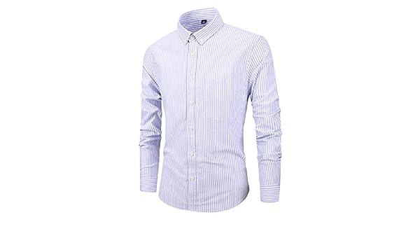Fubotevic Mens Long Sleeve Plaid Slim Cotton Casual Button Down Dress Work Shirt