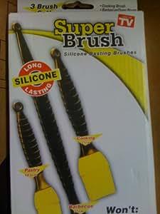 Silicone ~Super Brush~ Barbecue/Oven Basting Brushes - Set Of 3