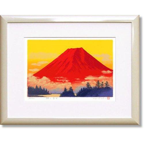 吉岡浩太郎輝く赤富士(絵画版画) B008OPJZTA