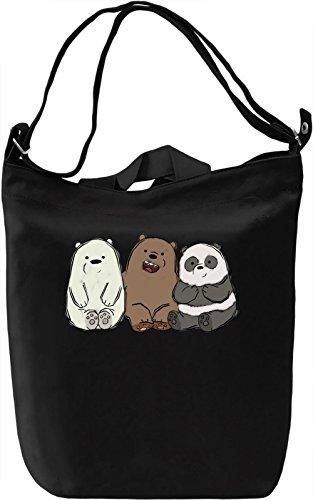 Cute Bears Borsa Giornaliera Canvas Canvas Day Bag| 100% Premium Cotton Canvas| DTG Printing|