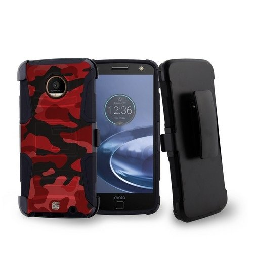 Moto Z Force Droid Edition - Premium Bundle - [Red Camo] ...
