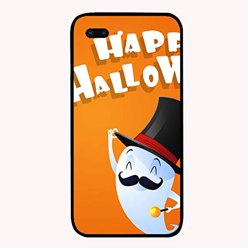 Flying Cute Ghost Spirit with Hat Happy Halloween Custom iPhone 7/8 Plus Cover Ultra Thin Hard PC Compatible for iPhone 7/8 Plus Case 5.5