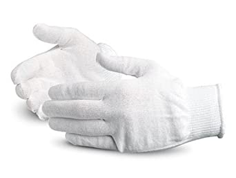 Superior S13TH Thermolite Fiber Winter Glove Liner, Work, 13 Gauge Thickness, Large, White (Pack of 1 Dozen)