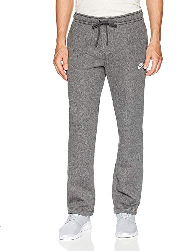 Men's Nike Sportswear Club Sweatpant, Fleece Sweatpants for Men with Pockets, Charcoal Heather/White, XS by Nike (Image #3)