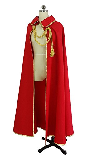 Yato Cosplay Costume (Nuoqi Anime Noragami Yato Cosplay Costumes Unisex Capes Long Red Cloaks CC618A-XL)