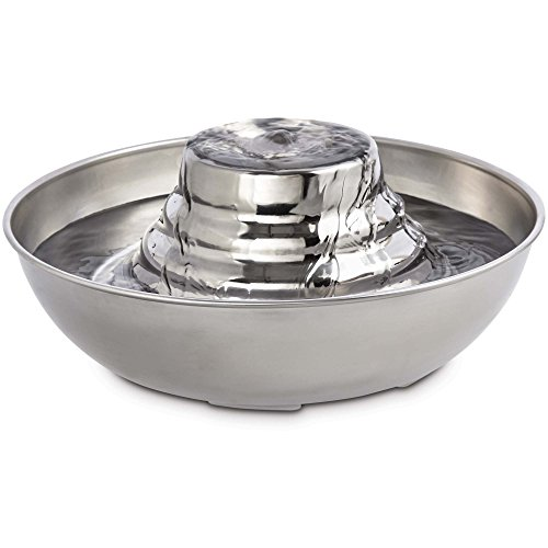 - Harmony Tiered Stainless Steel Deluxe Pet Fountain, 96 oz., 3X-Large