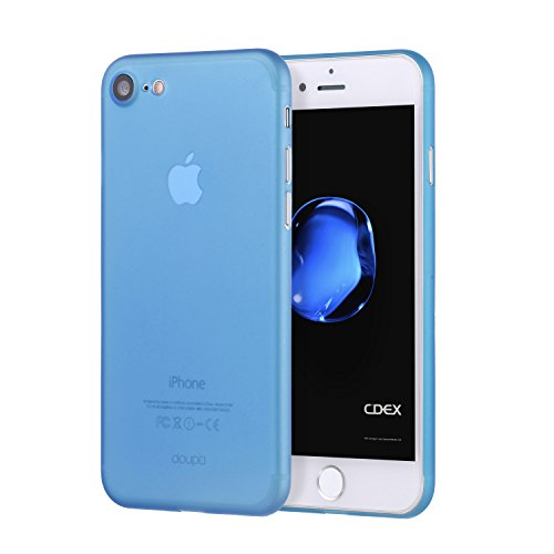 doupi UltraSlim Case for iPhone 8/7 (4.7 inch) Fine Matte Feather Light Skin Protective Cover - Blue