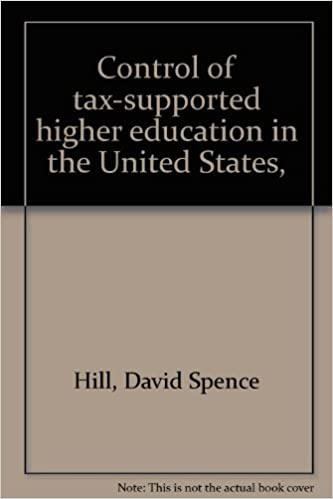 Control of tax-supported higher education in the United States,