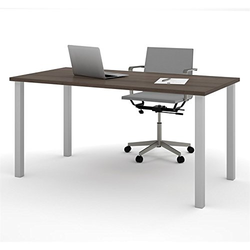 BESTAR Table with Square Metal Legs, 30 x 60'', Antigua