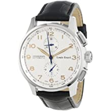 Louis Erard Men's 73228AA01.BDC51 1931 Automatic Black Leather Chronograph Watch