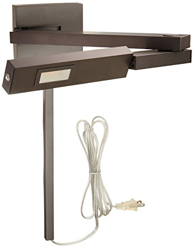 WAC Lighting BL-1021R-BZ Left Bronze Flip LED Swing Arm, Right,