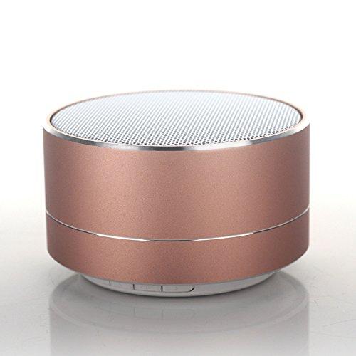 SUNG-LL Aluminum Alloy Wireless Bluetooth Speaker Calls Handsfree TF Card Music Bass Subwoofer Stereo Speaker