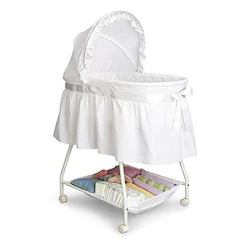 White Delta Childrens Products Sweet Beginnings Bassinet White