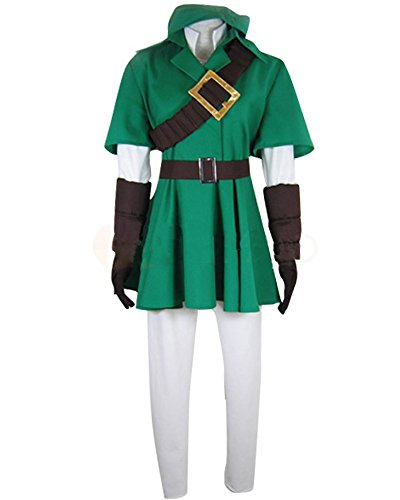 Ya-cos The Legend of Zelda Link Cosplay Costume Full Suit Green]()