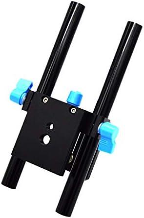 DSLR用ユニバーサル15mmレールロッドサポートシステムカメラマウントベースプレート