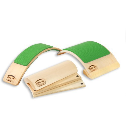Spine Stretching (Green) Therapeutic Device Combo with Four in One Adjustable Wooden Pillow, Two in One Back & Lumbar Stretcher, & Back Flex & Posture Device