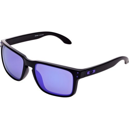 Oakley Holbrook Sunglasses Julian Wilson - Matte Black/Violet Iridium & Carekit Bundle by Oakley