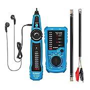 #LightningDeal Wire Tracker, ELEGIANT RJ11 RJ45 Cable Tester Line Finder Multifunction Wire Tracker Toner Ethernet LAN Network Cable Tester for Network Cable Collation, Telephone Line Tester, Continuity Checking