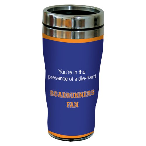 Tree-Free Greetings sg24937 Roadrunners College Basketball Sip 'N Go Stainless Steel Lined Travel Tumbler, 16 - Roadrunner Drink