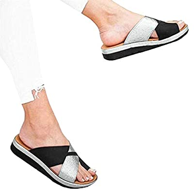 Gibobby Women's Sandals 2020 New Women Comfy Platform Sandal Shoes Summer Beach Travel Shoes Fashion Ladies Shoes: Clothing