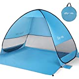 Glymnis Beach Tent Pop Up Large Portable UPF 50+ Sun Protection Mesh Windows for Outdoors with Carry Bag
