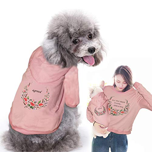 Parent-Pets Clothes Mommy&Dogs Sweatshirt Cool for Pets Owner and Pets Family Clothes Outfits Parent-Pets Matching Shirt Hoodies ()