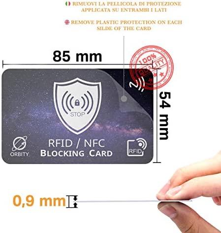 Tarjeta Anti Clonación ORBITY | 4ª Generación | Protección RFID y NFC de Tarjetas de Crédito o Débito, Pasaporte y Ilaves Sin Contacto | 1 Tarjeta ...