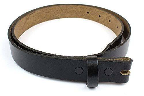 "Women's Skinny Genuine Leather Belt Strap Straight-Cut Edge Oil Tanned 1"" Wide (Black-34)"