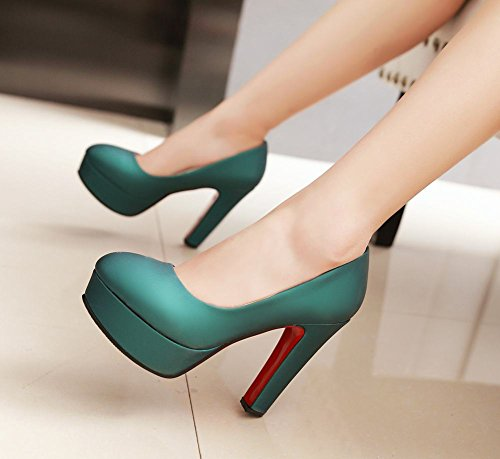 Carolbar Womens Evening Party Bridal Platform High Heel Pumps Shoes Green NRPyR