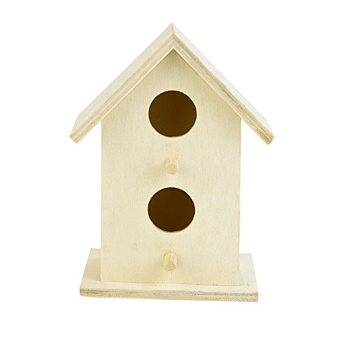 Eyelet Gorgeous (certainPL Natural Wood Bird House Birdhouse Nest for Outdoor Garden Tree Decor (E))