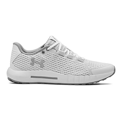 Under Armour womens Micro G Pursuit SE Running Shoe, White (101)/Mod Gray, 9.5