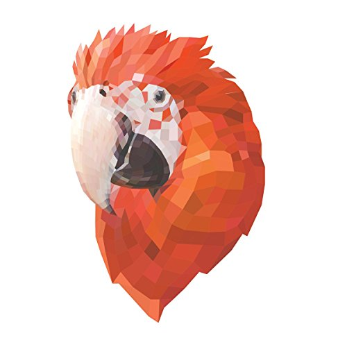 Low-Poly Scarlet Macaw Decal -Indoor and Outdoor use!