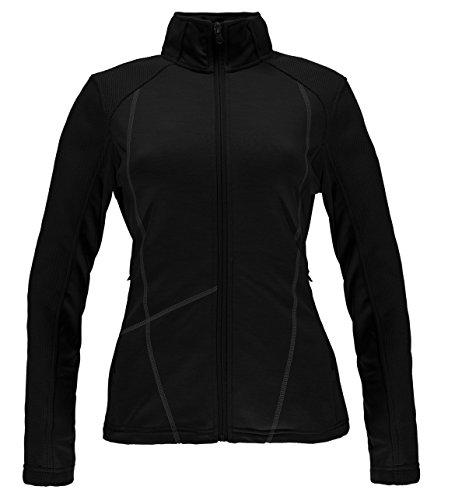 Spyder Women's Bandita Mid Weight Stryke Fleece Hoodie, X-Large, Black/Weld
