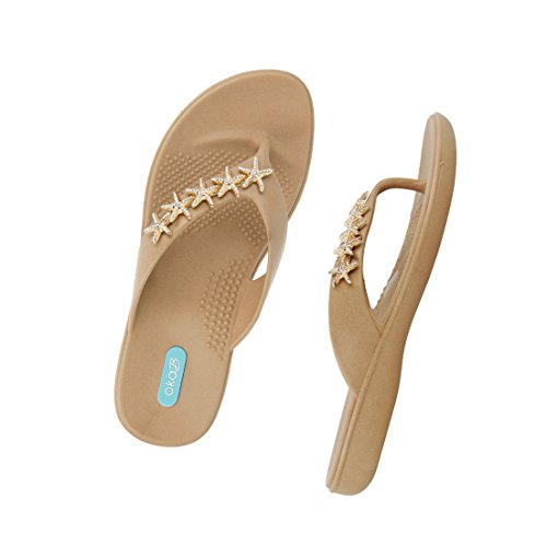 Gillian Flip Flop Sandal Shoes by OkaB Color Chai (M) by OkaB Oka-B (Image #2)