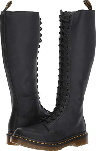 1B60 20-Eye Zip Boot Black Virginia 7 M UK M ()