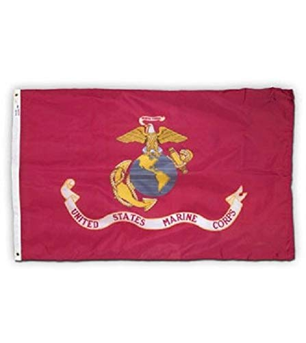 ALBATROS 3 ft x 5 ft Tradewinds USMC Marine Marines EGA Flag Nylon Flag USA with Clips for Home and Parades, Official Party, All Weather Indoors Outdoors ()