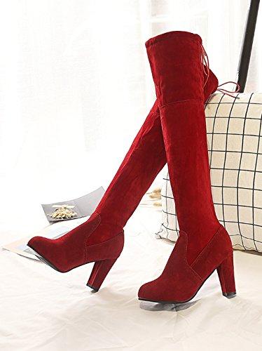 au XZ bottes bottes pointus talons genou mode mince Automne et l'hiver femme des sur H4rWxYB4wq