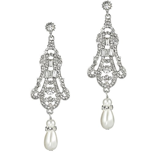 BABEYOND 1920s Flapper Art Deco Gatsby Earrings 20s Flapper Gatsby ()