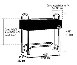 ShelterLogic Backyard Storage Series Covered Firewood Rack, Black, 4-Feet