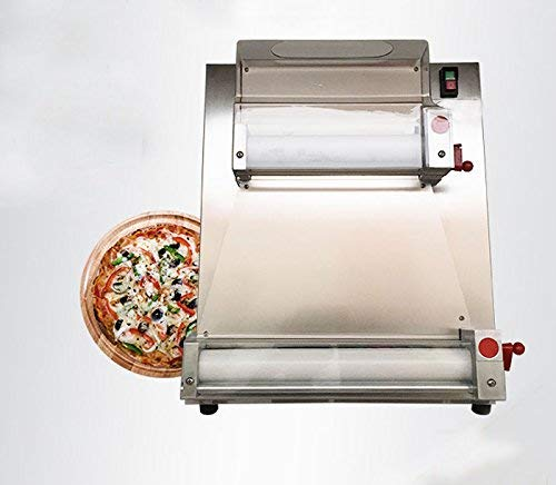 """INTBUYING Pizza Dough Sheeter Crust Maker Stainless Steel Pizza Circle Mold Pizza Bread Dough Making Machine 4""""-15"""" Pizza Press Dough Roller"""