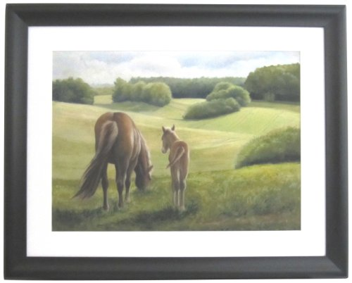 Bordeaux Collection Mirror (Alpine Art & Mirror Bordeaux Collection Mare and Foal in Black Frame)