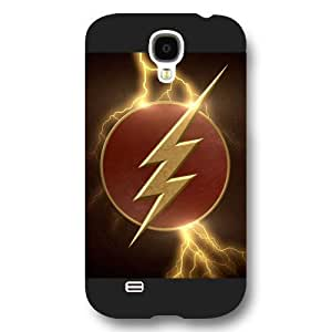 UniqueBox The Flash Custom Phone Case for Samsung Galaxy S4, DC comics The Flash Customized Samsung Galaxy S4 Case, Only Fit for Samsung Galaxy S4 (Black Frosted Shell)